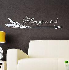 Arrow Vinyl Wall Decal Boho Arrow Sticker Quote Bedroom Bohemian Decor FD124