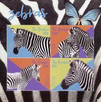 Gambia 2018 MNH Zebras Burchell's Zebra 4v M/S Wild Animals Stamps