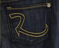 $187 NWT Rock & Republic Womens Jeans Cosbie Straight Stretch Blue Sz 27x35