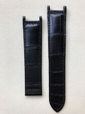 Genuine Cartier  Black Alligator strap 21/18