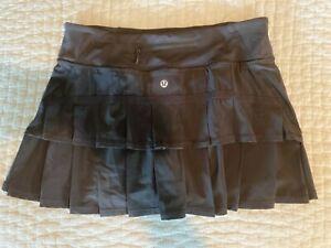 Lululemon sz 6 Tennis Skirt Black