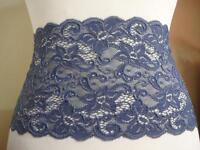 Französische Spitze,Spitzenborte,lace,trim in Indigo Jeans blau  17cm breit