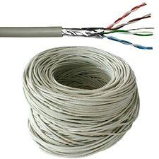 305m CAT5e FTP Cavo Schermato Bobina/Tamburo - Pure rame- Ethernet rete LAN RJ45