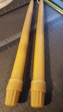 """12 Organic beeswax candles Colonial Style fits 7/8"""" & 1"""" holders"""