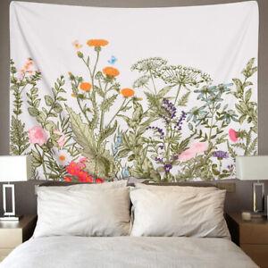 Wandteppich Blumenpflanzen Tapisserie Wandbehang Schlafzimmer Dekoration DE