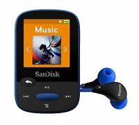 SanDisk Clip Sport MP3 Player 8GB  Blue Holds 2000 songs