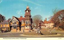 The Clock House and Roundabout Farnborough Cars Voitures