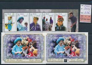LN29715 Isle of Man 2000 Elizabeth queen mother sheets MNH cv 21 EUR