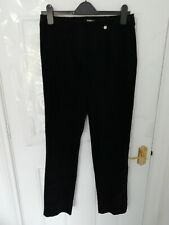 ROBELL JEANS Size 12 (38 Reg) (US8/EU38) Black Velvet Feel Stretchy Trousers 30L