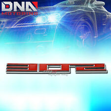 FOR SBC 302 5.0 STICK ON 3D CHROME RED AUTO BODY METAL EMBLEM TRIM BADGE LOGO