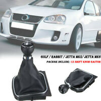 6 Speed Gear Shift Knob Gaiter Gaitor Boot For VW Golf Jetta MK5 MK6 2005-2014