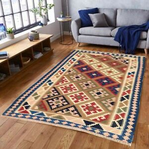 9774 Vintage Turkish Kilim Handwoven Tribal Kitchen Oriental Wool Kilim Rug 3x5