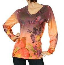 "NEW! TAKONI ~ Sexy MULTI-COLOR Sublimation BUTTERFLY Top ~ Fits a 42"" Bust / XXL"