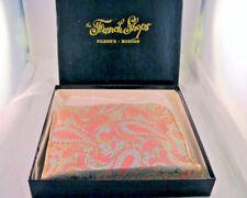 Vintage Filene's Toiletry Paisley Print Travel Bag Kit Deadstock in Box Awesome