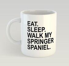 I/'M WALKING MY SPRINGER SPANIEL Novelty//Funny Printed Coffee//Tea Mug Gift O568