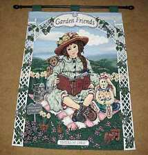 Boyds Bears Yesterdays Child ~ Garden Friends Tapestry Wall Hanging