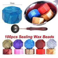 100Pcs Sealing Wax Beads Retro Seal Stamp Card Wax Wedding Envelope Invitation