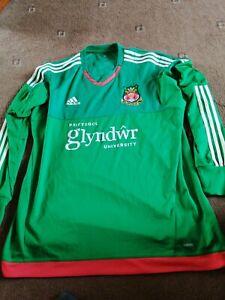 Wrexham Goalkeeper  Shirt  Adult Long  Sleeved 2015 Size XL Adidas