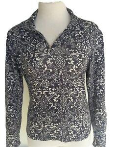 Athleta Women's Size Medium 1/4 Zip Long Sleeve Pullover Shirt Top Multicolor