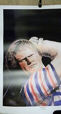 "Jack Nicklaus Limited Edition ""The Drive"" Art Lithograph Golfen Bear 27x38 Pga"