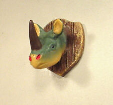 Mounted Rhino Head Miniature 1/24 Scale G Scale Diorama Accessory Item