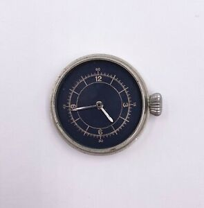 3s Swiss Black Dial Military Chronograph Pocket Watch Marked M480 Parts/Repair