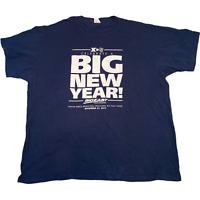 VINTAGE Mens T Shirt XL Navy Blue Big New Year Xavier Basketball Graphic Tee