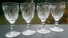 """Set of four Webb Corbett Gothic sherry glasses, 4 1/4"""" tall, unsigned"""
