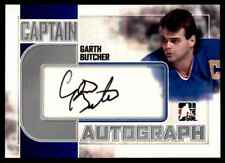 2011-12 AUTOGRAPH GARTH BUTCHER AUTO CS BUFFALO SABRES #A-GB