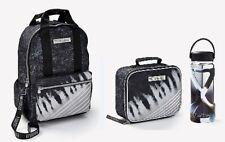 Nwt Justice Girls Tie Dye Stripe Backpack, Lunchbox / Tote & Water Bottle Set!