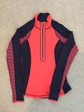 Lululemon Run U Turn Half Zip Pullover Top Sz 4 Reversible orange flare inkwell