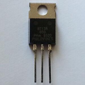 Philips Semiconductors BT138-600, Triac 600V, 12A, 35mA, TO220AB