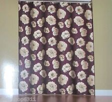 Begonia Fabric Shower Curtain  Floral Purple By Saturday Knight NEW IN BAG