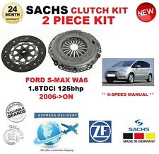 FOR FORD S-MAX WA6 6 SPEED 1.8 TDCi 125bhp 2006-ON SACHS 2 PIECE NEW CLUTCH KIT