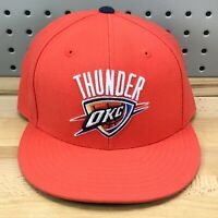 Oklahoma City Thunder OKC Mitchell & Ness Fitted Blue NBA Basketball Hat EUC Cap