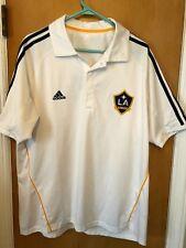 ADIDAS MLS David Beckham LA GALAXY Jersey Polo Shirt Size L Large Short Sleeve