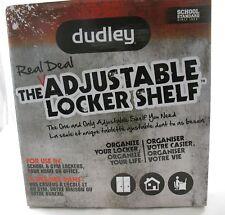 New, Dudley The Real Deal Adjustable Locker Organizer Shelf