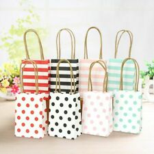 20pcs Small Gift Bag With Handles Simple Elegant Wedding Party Favor Paper Bags