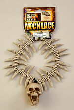 Teeth and Skull Necklace Witch Doctor Voodoo Caveman Costume Accessory