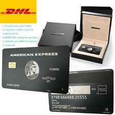 2020 American Express Centurion Black Card Customise your own Amex w chip stripe