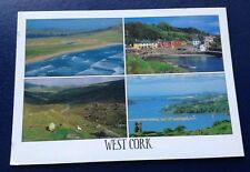 POSTCARD: WEST CORK: MULTI SCENE: USED: POSTED: POST DATE ON CARD IS 2014