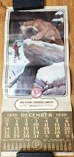 1975 Reproduction 1930 Peters Cartridge Co. Calendar Hunter and Cougar Goodwin