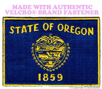 OREGON STATE FLAG PATCH EMBROIDERED SYMBOL APPLIQUE w/ VELCRO® Brand Fastener
