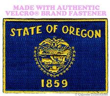 OREGON STATE FLAG PATCH EMBROIDERED SYMBOL APPLIQUE w/ VELCRO® Brand Fastener
