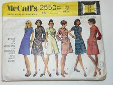 Tamaño 161/2 Busto 39 Vintage mccalls 2550 vestido en las versiones 6 & Half Tallas para Mujeres