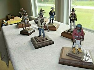 Vintage Series 77 Miniatures A WESTERN Lot of (7) Painted LG SIZE