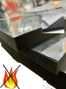 Glatt Aluminium Schaumstoff SELBSTKLEBEND Dämmung Taschen Flammhemed  koffer 3cm