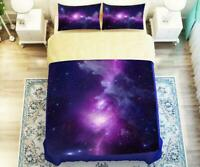 3D Beautiful Purple Galaxy KEP2560 Bed Pillowcases Quilt Duvet Cover Kay