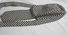 Margie's Doo-rags, Skullcap - Black and White Checked