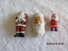 Three Santa Magnets Christmas collectable Refrigerator magnets